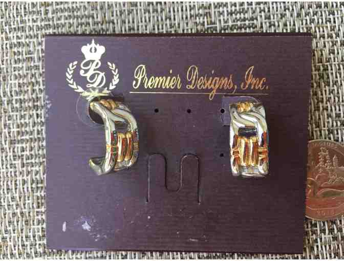 Premier designed gold/silver duo earrings