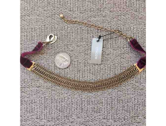 Chicos cranberry choker necklace
