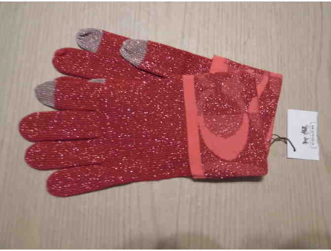 Coach Gloves--Red