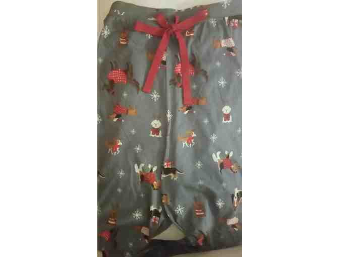 Ladies Christmas Dogs Lounge Pants- Size M