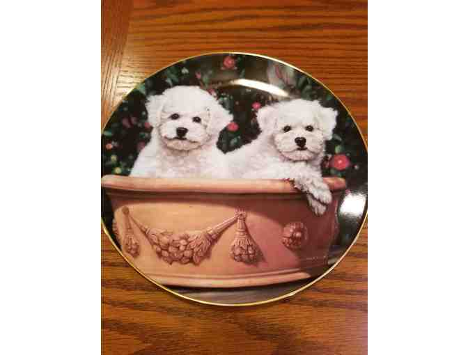 Danbury Mint -  Potted Pair plate