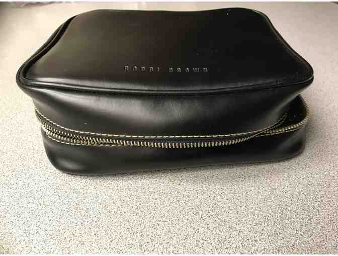 Leather Bobbi Brown cosmetic case