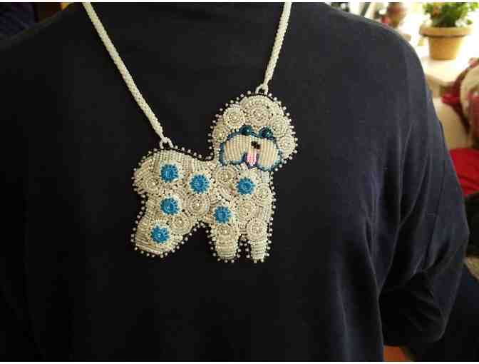 Beaded Bichon necklace