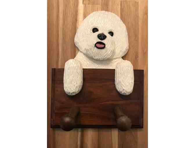 Gorgeous Bichon leash hanger