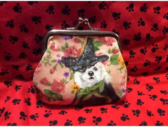 Bichon Halloween Witch Coin Purse
