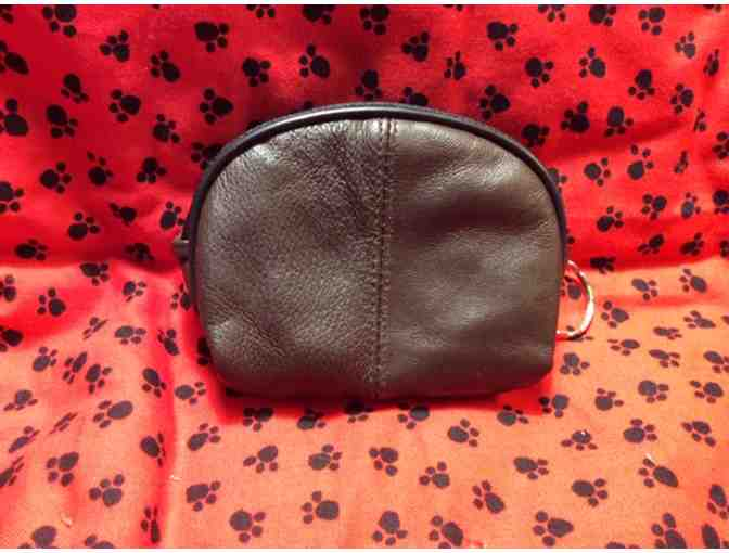 Pretty Bichon Leather Coin Purse