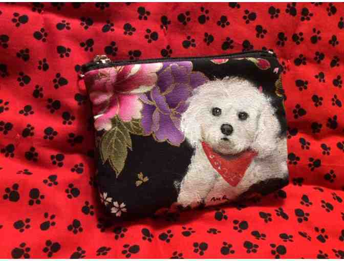 Large Bichon coin purse
