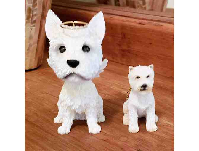Adorable Westie figurines/ornaments