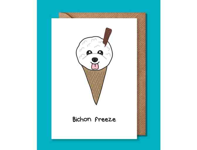 Bichon Freeze card is be sure to raise a smile!