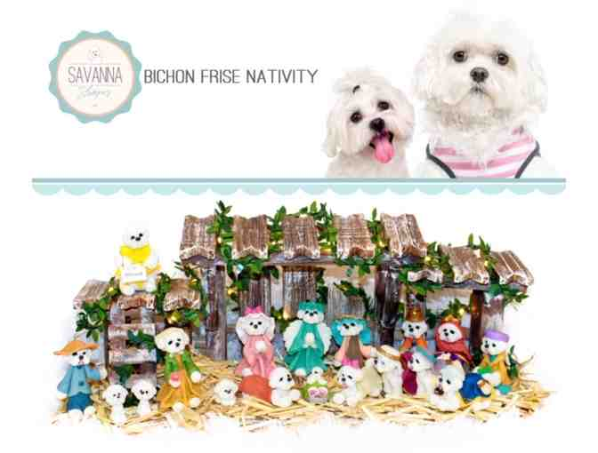 18 piece Bichon Nativity