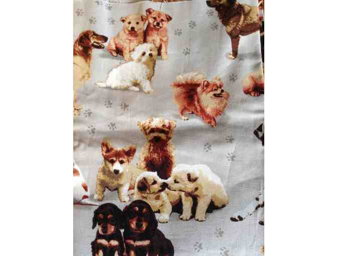 Dog themed cotton fabric