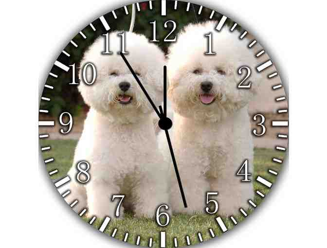 Bichon Frise Frameless Borderless Wall Clock