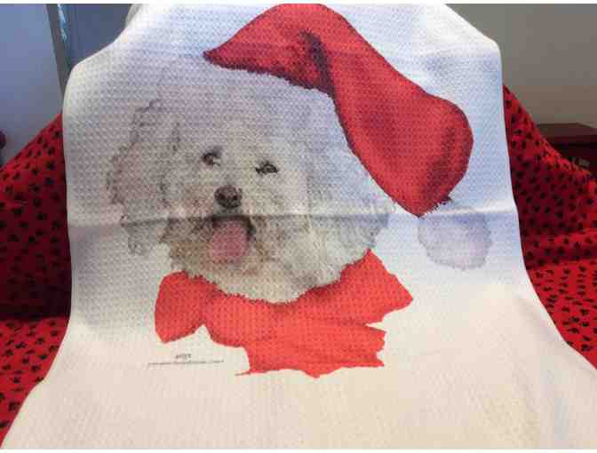 Christmas Bichon Kitchen Towel