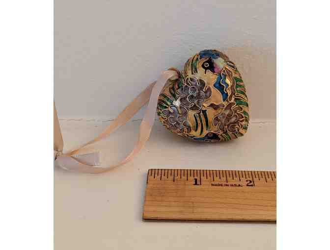 Cloisonne heart ornament