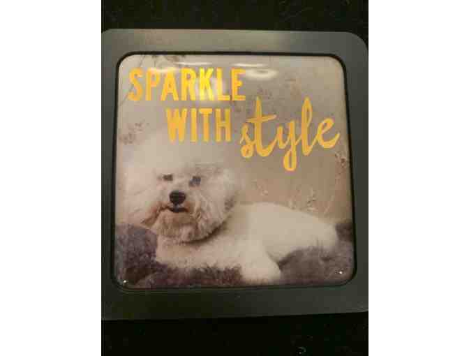 Bichon magnet - black Sparkle with Style