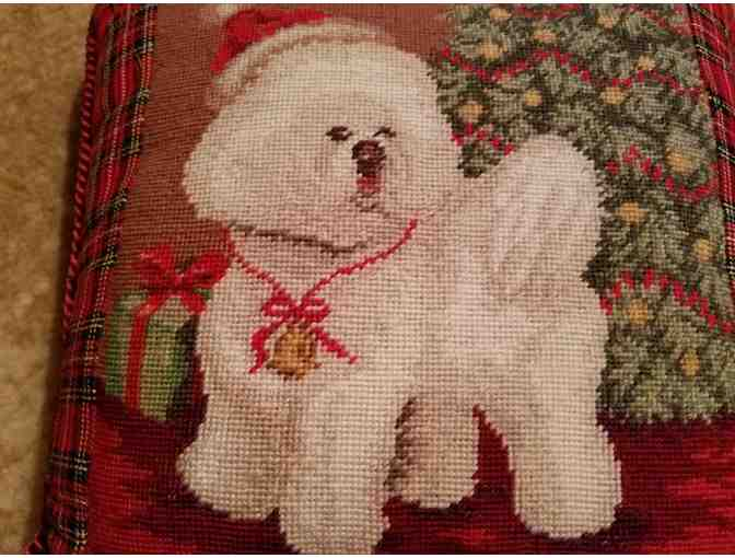 Bichon Christmas Pillow