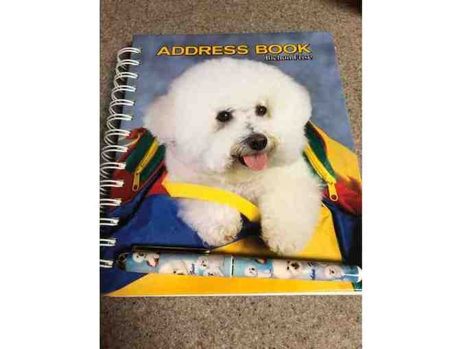 Bichon address book and pen
