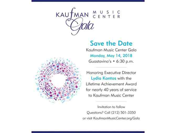 2 Tickets to KMC's Annual Gala, Honoring Lydia Kontos on May 14, 2018 - Photo 1