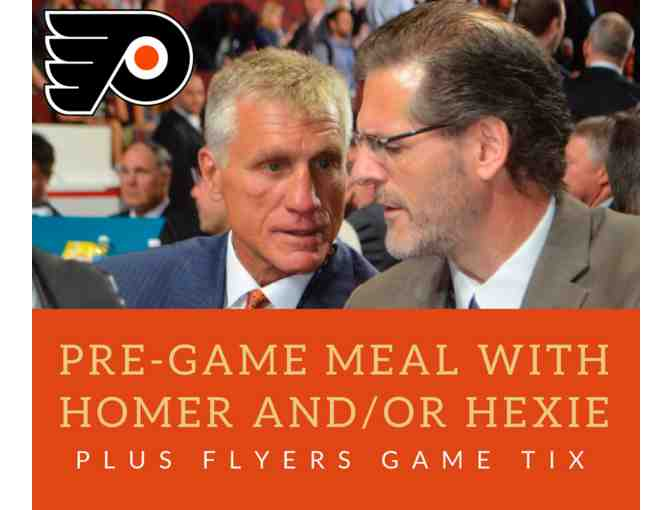 Flyers Pre-Game Dinner/Brunch with Paul Holmgren and/or Ron Hextall