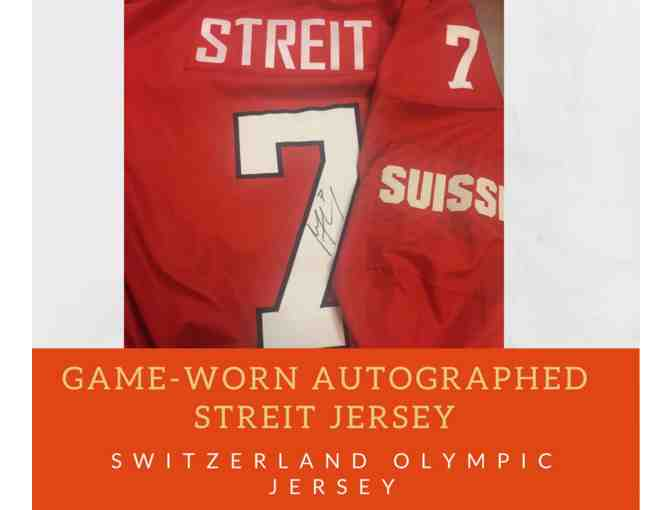 Mark Streit Game-Worn Autographed Switzerland Jersey