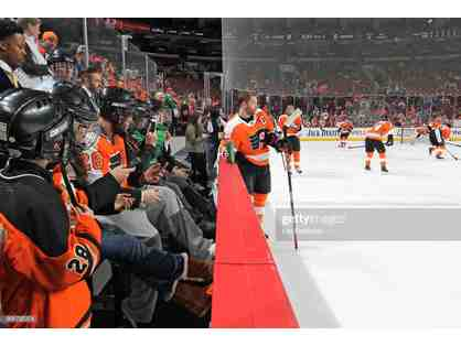 Flyers Pre-Game Benchwarmers