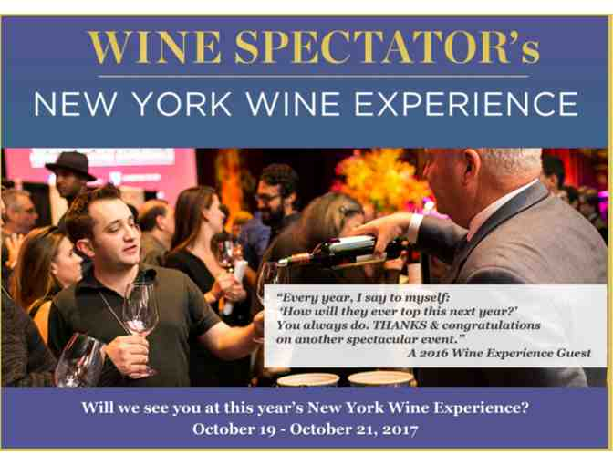 Wine Spectator New York Wine Experience for 2