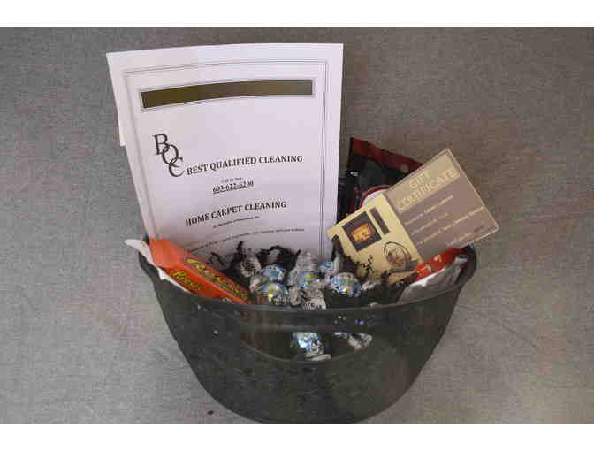 Home Carpet Cleaning & Chimney Service Gift Certificates Basket