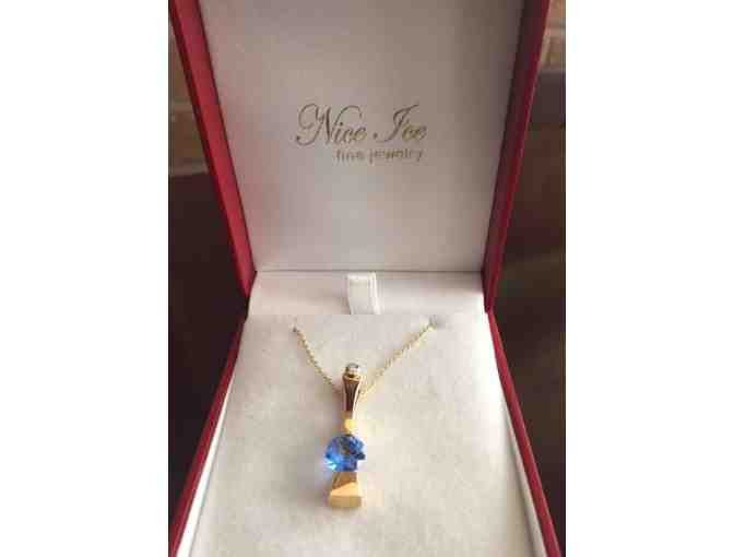 French Blue Topaz Necklace