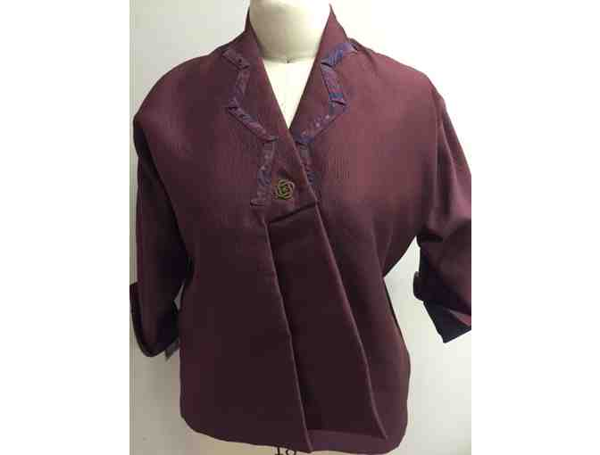 Claret and Navy Blue Woman's Jacket