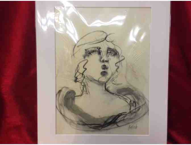 "An ""Original"" Marilyn Kalish oil and charcoal painting donated by The Vault Gallery - Photo 1"