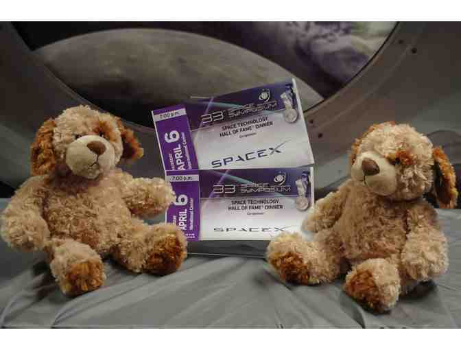 Space Technology Hall of Fame Tickets/Pair of Tempur-Pedic Puppies