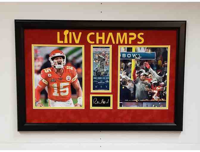 Patrick Mahomes Superbowl Laser Signed Display $250.00