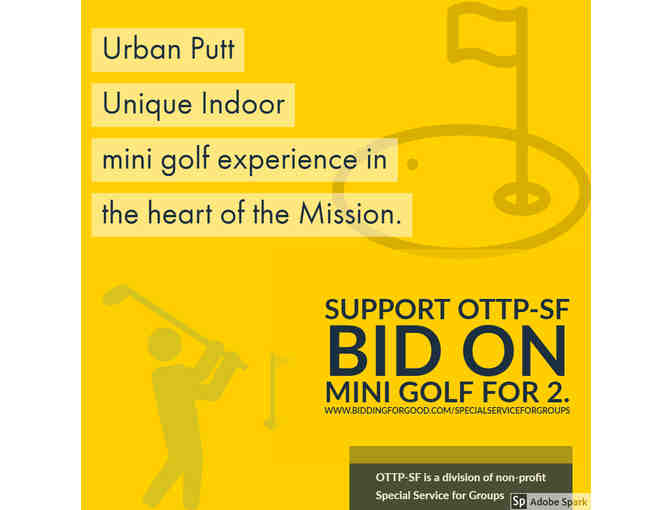 Mini golf for 2 at Urban Putt