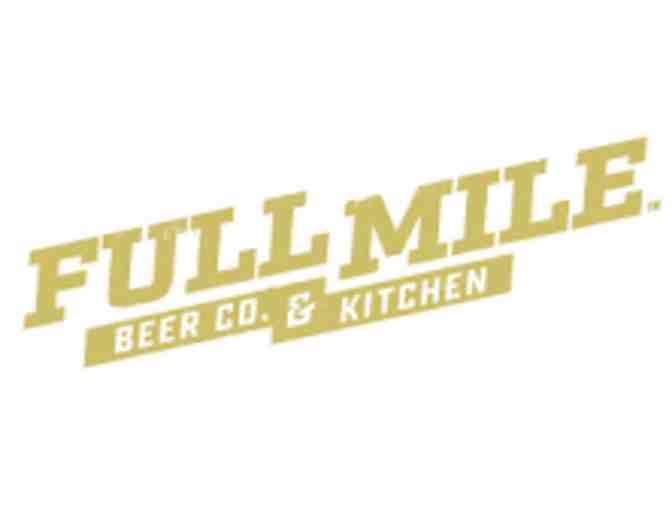 $100 Gift Card and swag to Full Mile Beer Co. & Kitchen