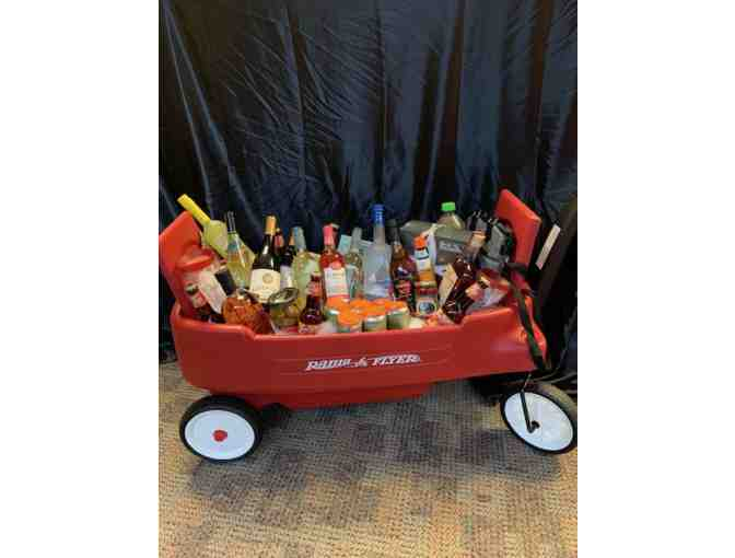 Wagon Full of Beer, Wine, Alcohol, Mixers, Snacks and Garnishes