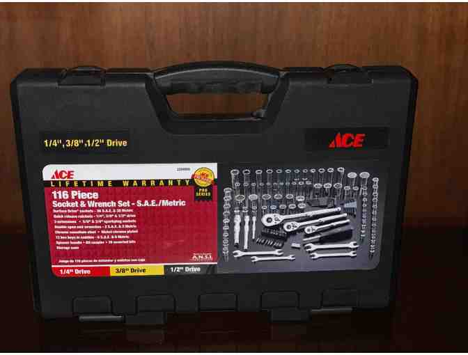 ACE 116 Piece Socket and Wrench Set