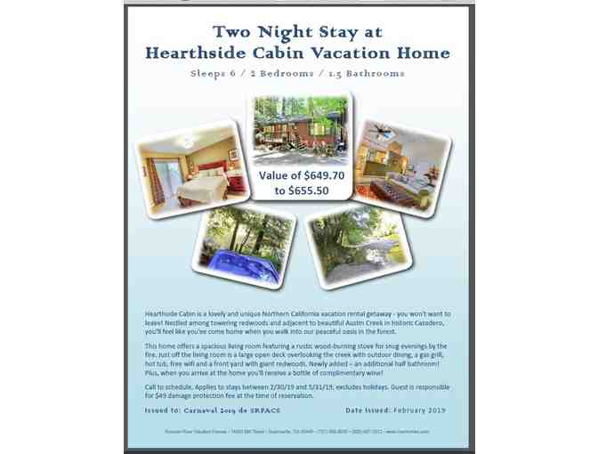 Three Night Stay in Cazadero- LIVE AUCTION