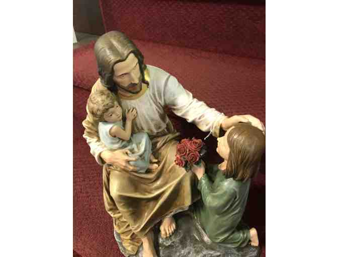 Statue of Jesus with 2 Children