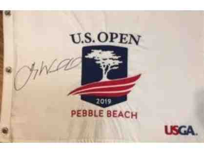 2019 US Open Signed Flag