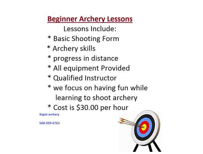 DON'T MISS THE MARK!  Archery Starter Package