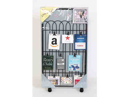Loves to Shop!-Gift card collection displayed on decorative frame