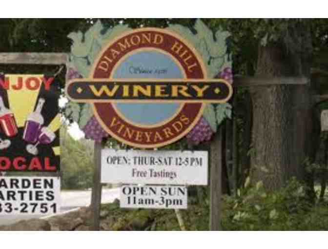 Wine Tasting for 10 at Diamond Hill Vineyards & Bottle of Cranberry Apple Wine