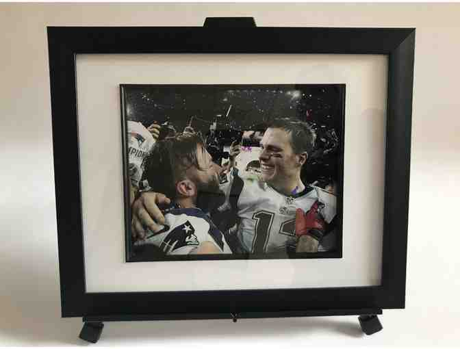 Framed Patriot photo of Julian Edelman & Tom Brady