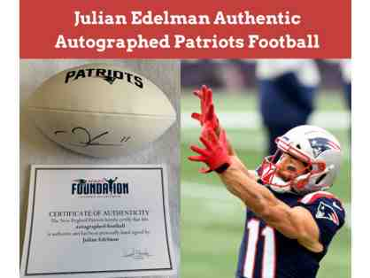 Julian Edelman Autographed Patriots Football with Certificate of Authenticity (PRICELESS)