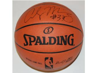Alonzo Mourning Signed Game Basketball