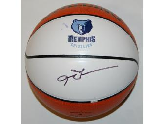 Allen Iverson Grizzlies basketball, signed