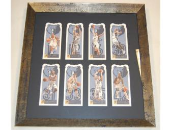 2005-2006 Memphis Grizzlies player cards poster, signed and framed