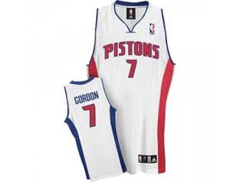 Detroit Pistons Ben Gordon signed authentic jersey