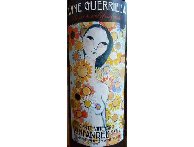 2 Bottles of Wine Guerrilla's Conte Vineyard Zinfandel - Russian River Valley 2012 - Photo 3