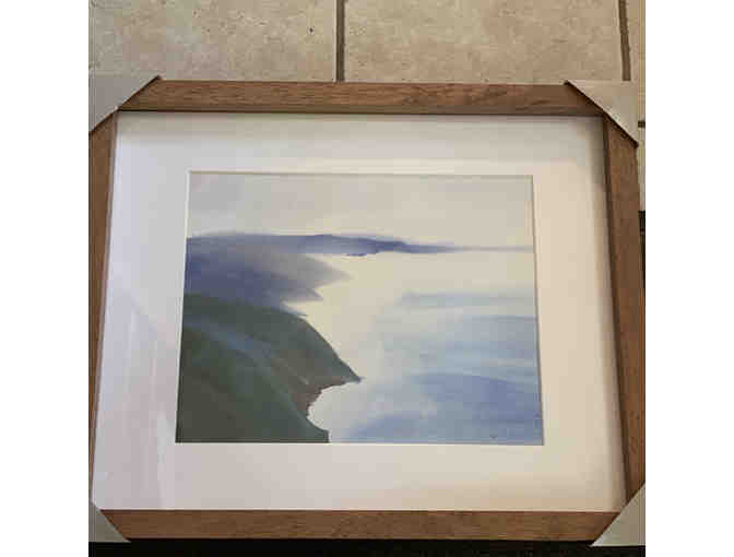 Framed Watercolor by Artist in Residence Allison Spreadborough